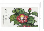 Japanese Matchbox Label with Pink Flower by Corbis