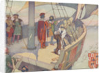 Book Illustration of Columbus Discovering America by E. Boyd Smith