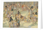 Book Illustration of a Native American Battle by E. Boyd Smith