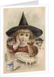 Eagle Brand Milk Trade Card with a Girl and Kittens by Corbis