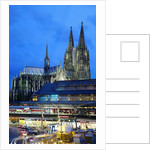 Cologne Cathedral and Railway Station by Corbis