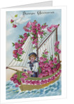 Best Wishes Postcard with a Boy Sailor by Corbis