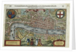 16th-Century Map of London by Corbis