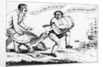 Cartoon: A Smuggler During the Embargo Act 1807-1809 by Corbis