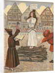 Illustration of Joan of Arc at the Stake by Jacques Onfroy de Breville