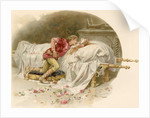 Illustration of Romeo Mourning Juliet by Ludovico Marchetti
