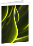 Close up of fluorescent green lights by Corbis