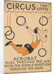 Acrobat Flies Through the Air Illustration by Corbis