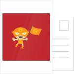 El Fuego Waving A Flag by Corbis