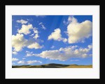 Cumulus Clouds Floating Above Prairie in the Fall by Corbis