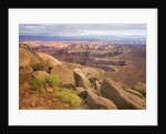 Canyon in Desert Landscape by Corbis