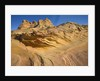 Grooves and Buttes in Desert Landscape by Corbis
