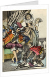 Illustration of the Cat Offering a Rabbit to the King by Corbis