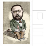 Caricature of Emile Zola by Andre Gill