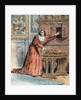 Illustration of Cardinal Mazarin Hiding a Jewelry Box by Corbis