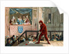 Illustration of King Philip IV Watching the Public Burning of a Papal Decree by Corbis