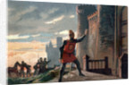Illustration of King Philip VI Outside the Chateau de Broye by Corbis