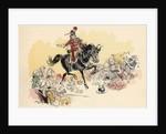 Illustration of Baron von Munchausen on Horseback by Albert Robida
