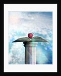 Apple and Open Book on Pedestal by Corbis