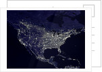 North America at Night by Corbis