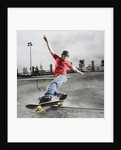 Skateboarder Performing Tricks by Corbis