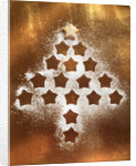 Outline of Christmas Cookies Arranged into Tree Shape by Corbis
