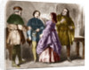 Illustration of a Prostitute in the Late Middle Ages by Corbis