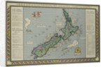 A Map of New Zealand Portraying Her Agricultural Products and Fisheries by Corbis