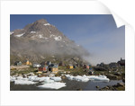 Aappilattoq Village and Mountain by Corbis