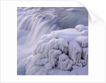 Frozen Gullfoss Waterfall by Corbis