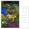 Backyard Flower Garden With Chair by Corbis