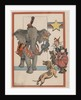 Illustration of an Elephant and Circus Performers by Constance White