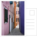 Brightly Colored Houses and Narrow Alley by Corbis