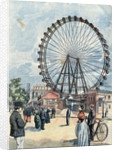 Illustration of a Ferris Wheel at the 1900 Paris Exposition by Corbis