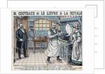 Illustration of Aristide Couteaux Cooking Lievre a la Royale by Corbis