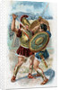 Illustration of Achilles Fighting Hector by Corbis