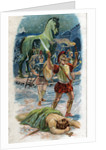 Illustration of Achilles and the Taking of Troy by Corbis