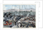 Illustration of Fighting Between French and Chinese Forces at Kwang-Chou-Wan by Corbis