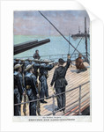 Illustration of the Execution of a Semaphore Guard by Corbis