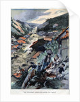 Illustration of Saint-Ours Village Buried by a Mudslide by Corbis