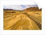 Sandstone Formation and Cracked Silt Deposits by Corbis