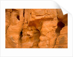 Eroded Sandstone Cliff With Holes by Corbis