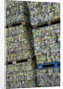 Bales of Crushed Aluminum Cans by Corbis
