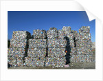 Stack of Bales at Recycling Center by Corbis