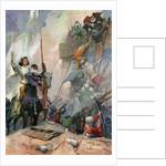 Illustration of Joan of Arc in Battle by Frank E. Schoonover