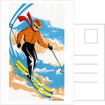 Broom Label of Skier on Ski Slope by Corbis