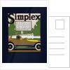 Advertisement for Simplex Automobiles by Louis Fancher