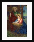 Christmas Greetings Postcard with Holy Family by Corbis