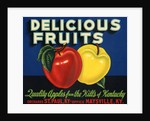 Delicious Fruits Fruit Crate Label by Corbis