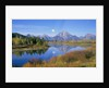 Full Moon Rising Over the Oxbow Bend by Corbis
